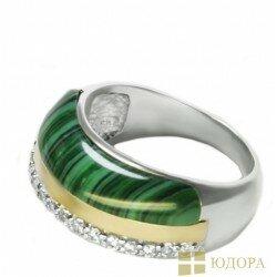 Кольцо женское Диана арт. 119 малахит
