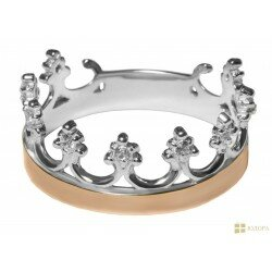 Кольцо серебро + золото арт. 152