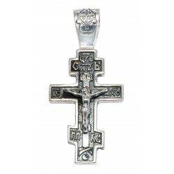 Серебряный крестик арт 3026